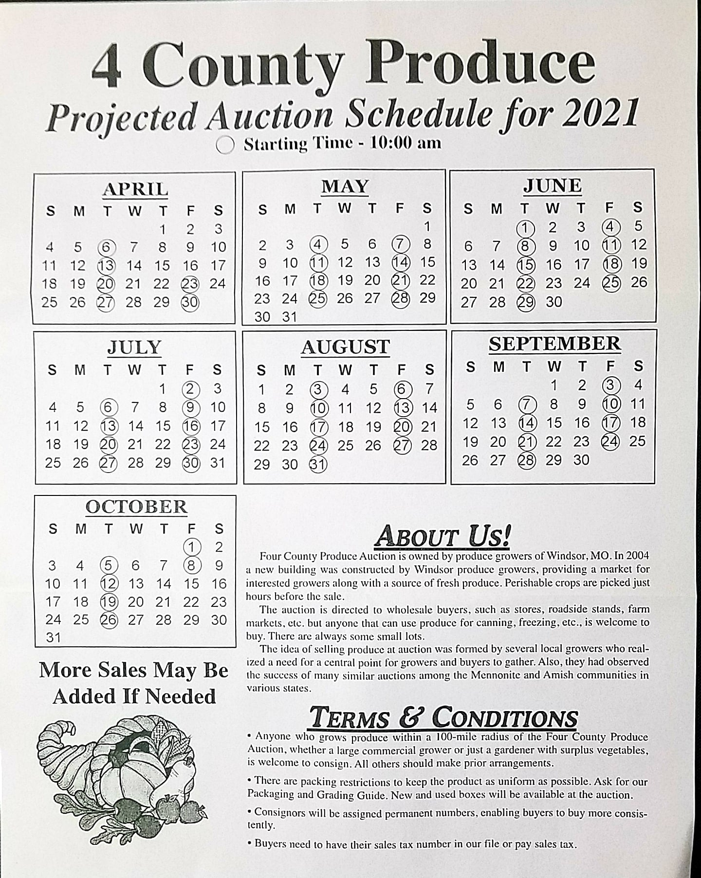 2021 Produce Auction